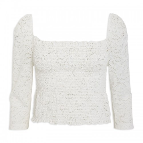 Ivory Puffsleeve Top -