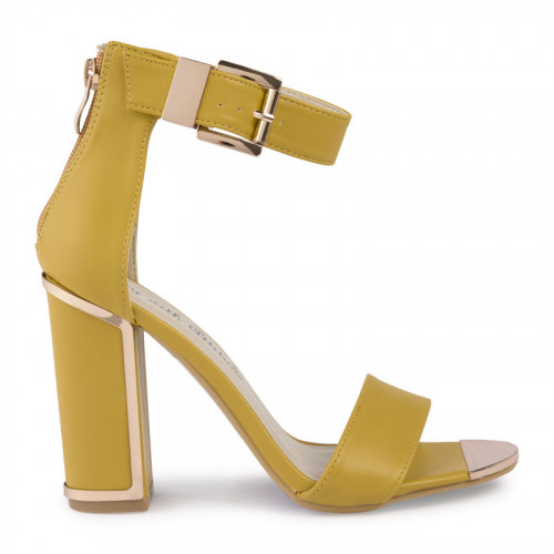 Mustard Large Buckle Detail Sandal -