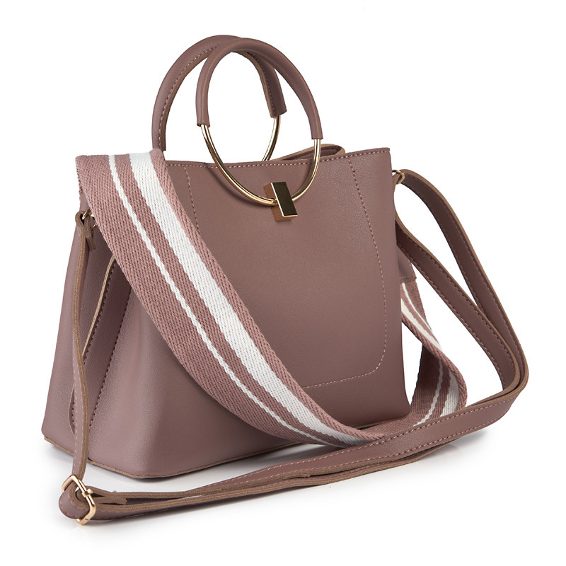 Pink Ring Bag with Detail -