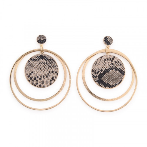 Snake Double Hoop Earrings -