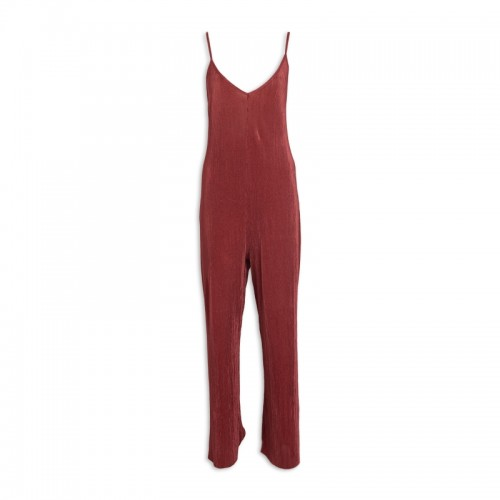 Mahogany Cross-Back Jumpsuit -