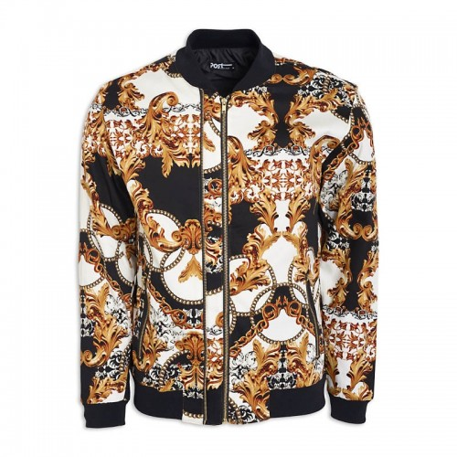 Multi Print Bomber Jacket -