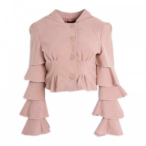 Rose Frill-Sleeve Jacket -