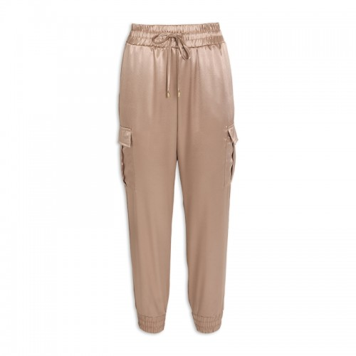 Gold Satin Pants -