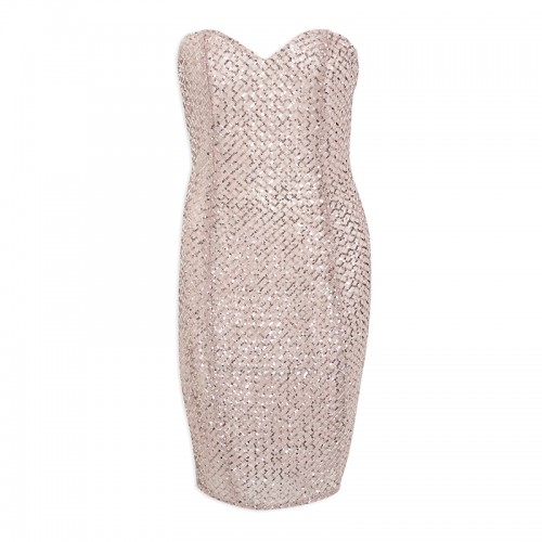 Rose Sequins Boobtube Mini dress -
