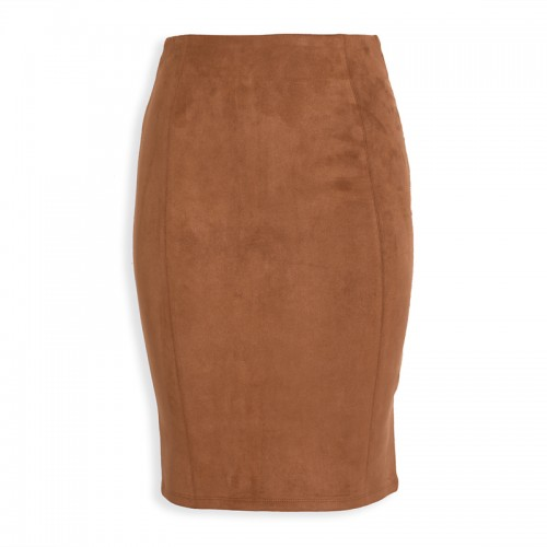 Walnut Suede Skirt -