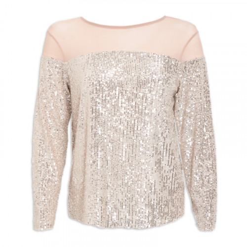 Silver Sequin Top -