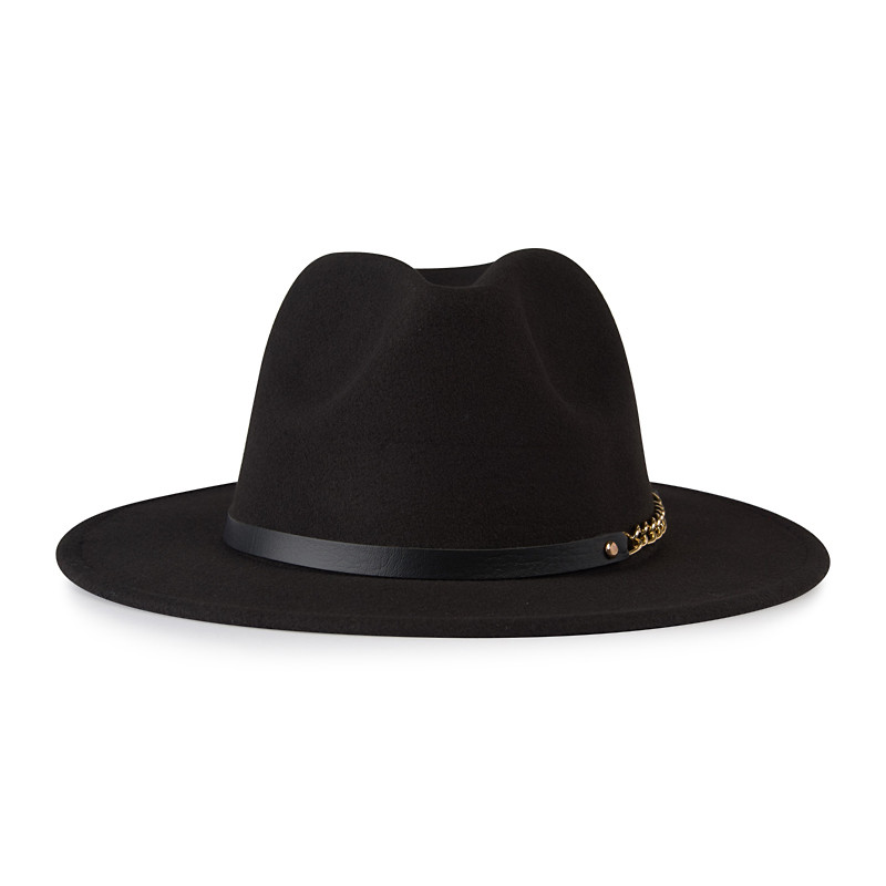 Black Fedora with Band -