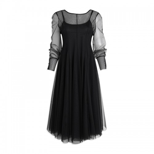 Black Tulle Dress -