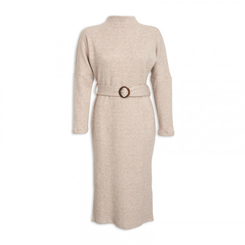 Oatmeal Turtleneck Dress -