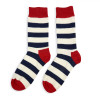 Navy & Red Stripe Sock -
