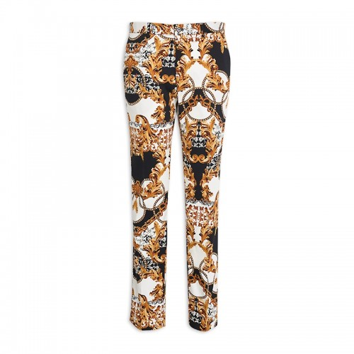 Black & Yellow Print Trouser -