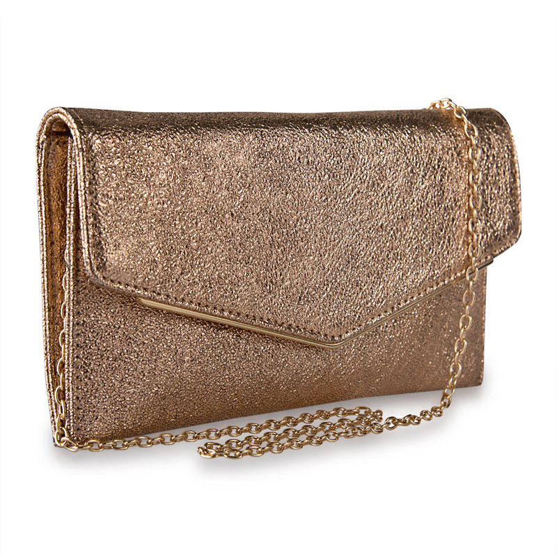 Rose Gold Textured Clutch -