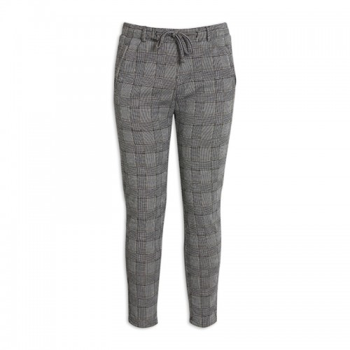 Grey Check Pants -