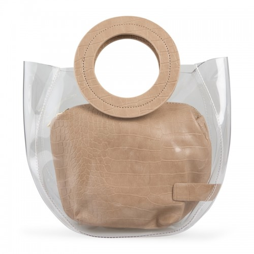 Beige Transparent Bag -