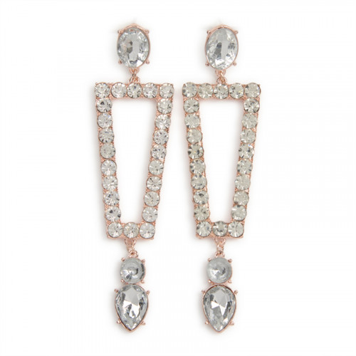 Rose Gold Square Earrings -