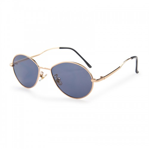 Gold Round Sunglasses -